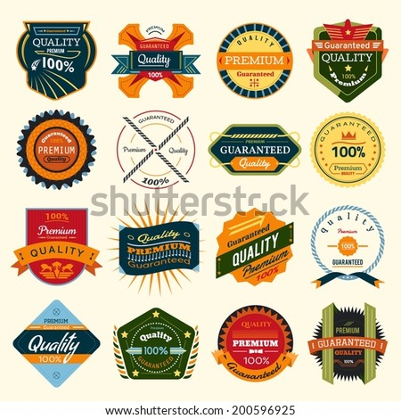 Badges Vector Set - stock vector