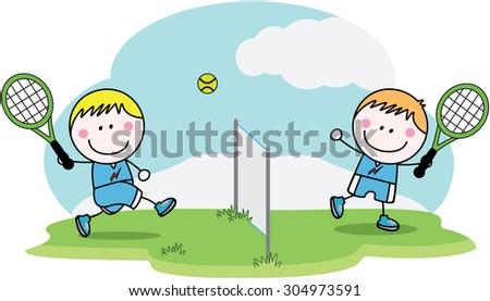 Badminton player - stock vector