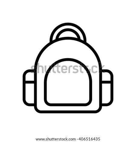 Bag fully scalable vector icon in outline style. - stock vector