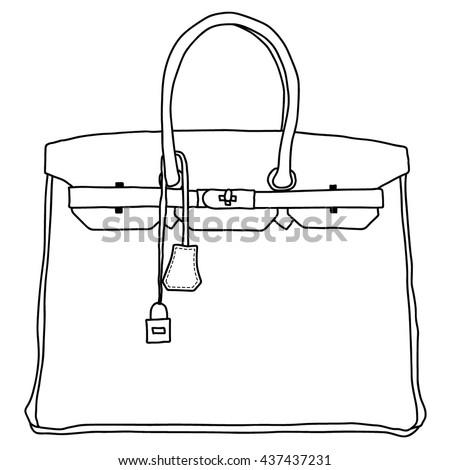 Bag Icon, sketch handmade icon