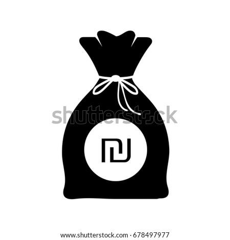 Bag Money Israeli New Shekel Logo Stock Vector 678497977 Shutterstock