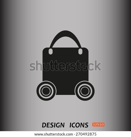 bag on wheels. icon. vector design