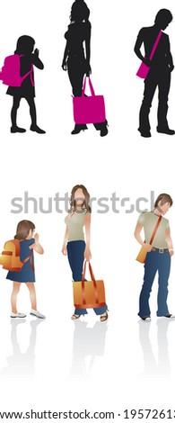 bag people - stock vector