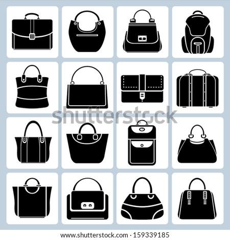 bag set - stock vector