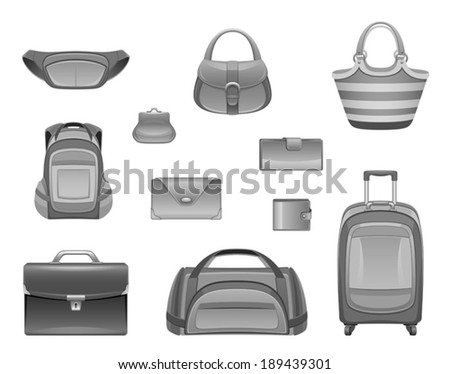 Bag set - stock vector
