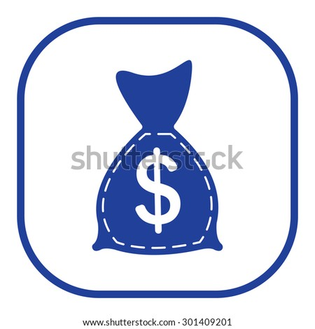 bag with money icon - stock vector
