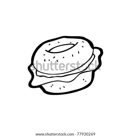 Cartoon Bagel Clipart Bagel Cartoon