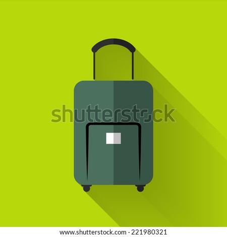 baggage icon in colorful flat design style  - stock vector