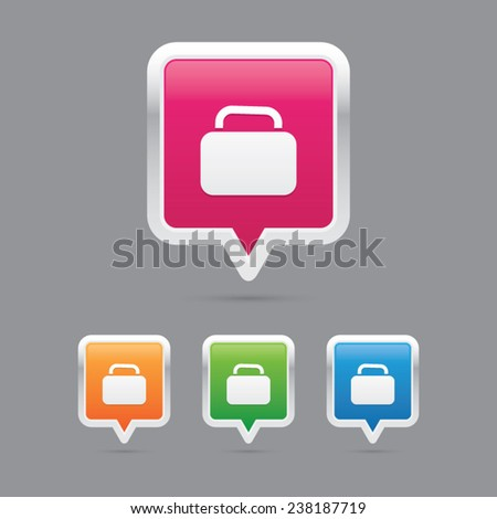 Baggage Marker Icons - stock vector