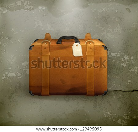 Baggage, old-style vector vector - stock vector