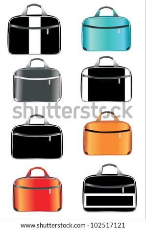 bags set - stock vector