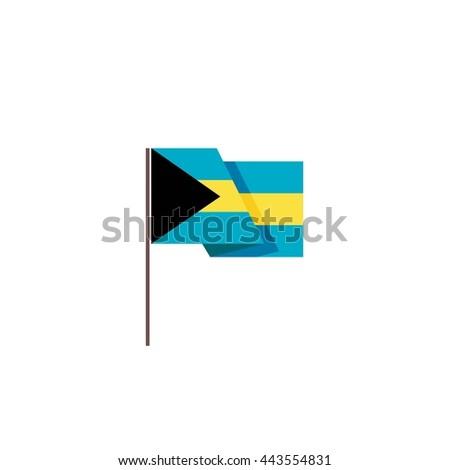 Bahamas vector flag isolated - stock vector