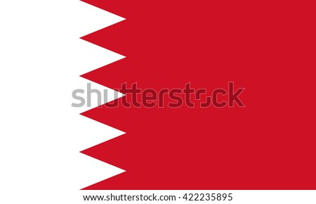 Bahrain flag, official colors and proportion correctly. National Bahrain flag. Bahrain flag vector. Bahrain flag correct. Bahrain flag drawing. Bahrain flag JPG. Bahrain flag JPEG. Bahrain flag EPS. - stock vector