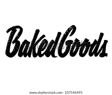 Baked Goods Header - Retro Clipart Illustration - stock vector