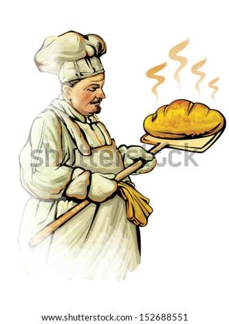 baker - stock vector