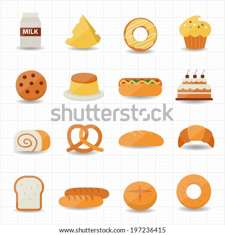 Bakery and Bread Icon - stock vector
