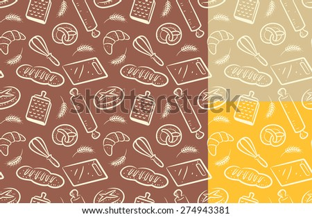 bakery background - stock vector