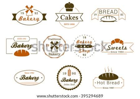 Bakery Badges Vector Logos - stock vector