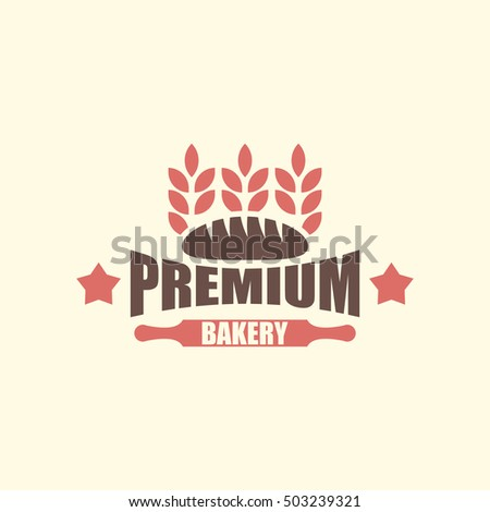 BAKERY BREAD VINTAGE OLD LOGO TEMPLATE