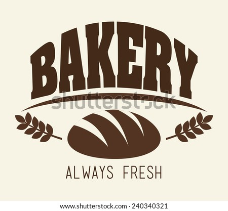 Bakery design over white background, vector illustration.