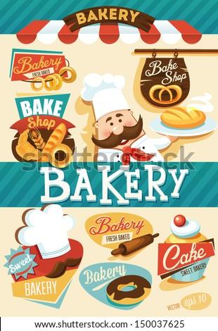Bakery design template - stock vector