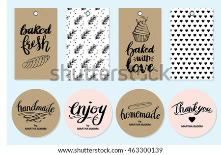 Bakery Gift Tags and Stickers Collection