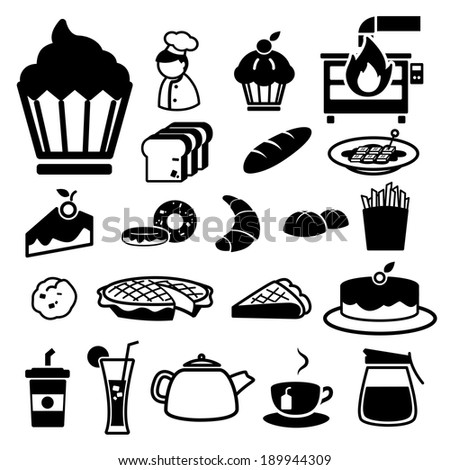 Bakery icons set. illustration eps10