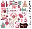 Bakery icons set. Vector elements for your design. - stock vector
