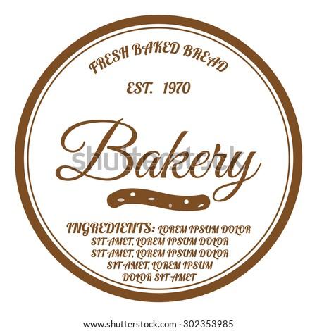 Bakery logo, premium quality design. - stock vector