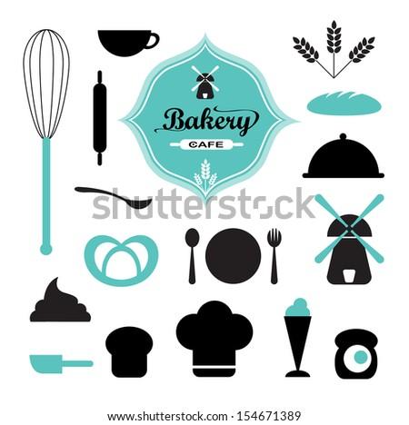 Bakery set vector - stock vector