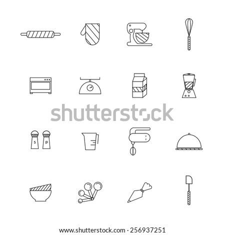 Bakery set vector.  - stock vector