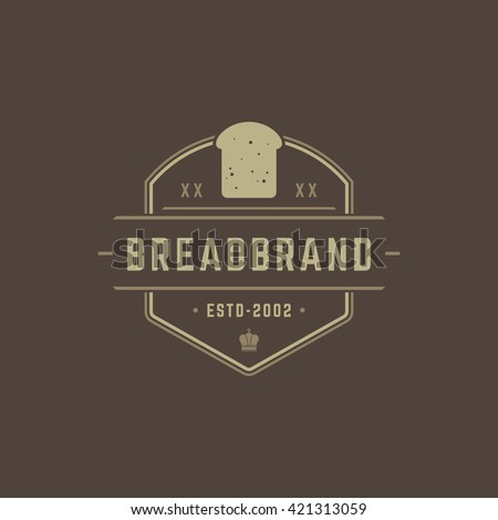 Bakery Shop Logo Template. Vector object and Icons for Pastry Food Label or Badge, Bakery Food Logotype Design, Emblems Graphics.  - stock vector