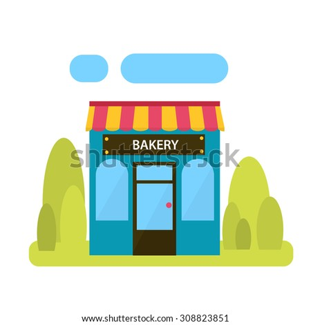 Bakery shop, Shop on a white background