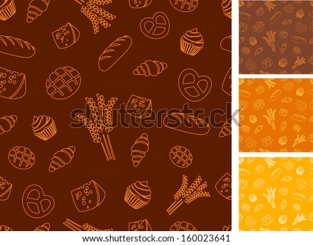 Bakery themed background - stock vector