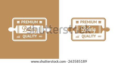 Bakery Vector Vintage Logos in two color  - stock vector