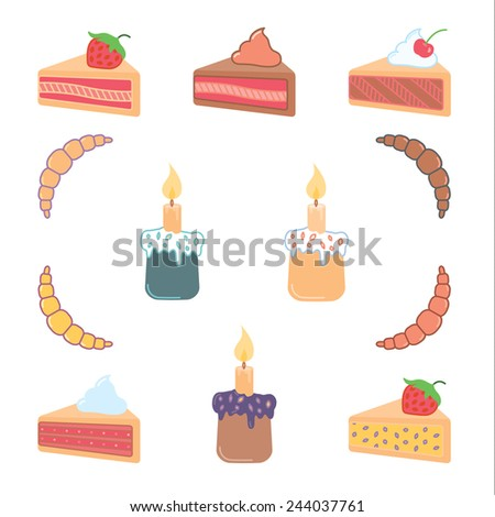 Baking icons set - vector illustration.