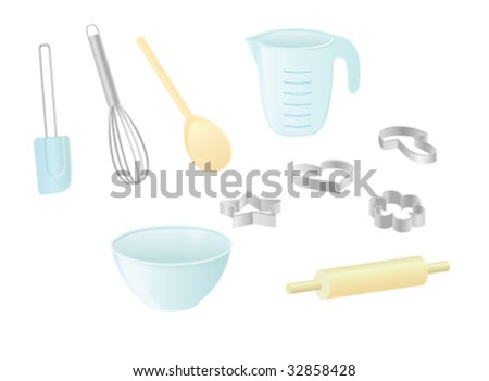 Baking Utensils - stock vector