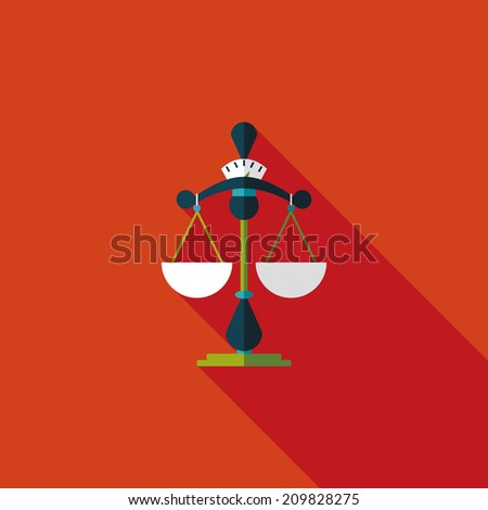 Balance flat icon with long shadow - stock vector