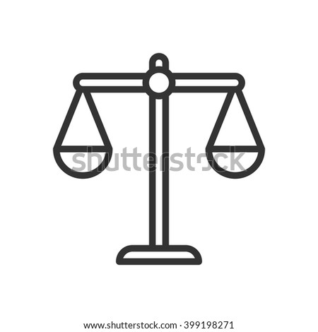 Balance. Fully scalable vector icon in outline style. - stock vector