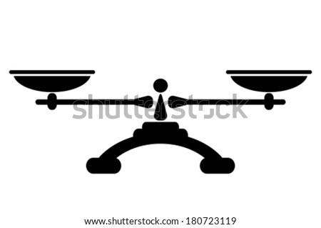 Balance icon - stock vector