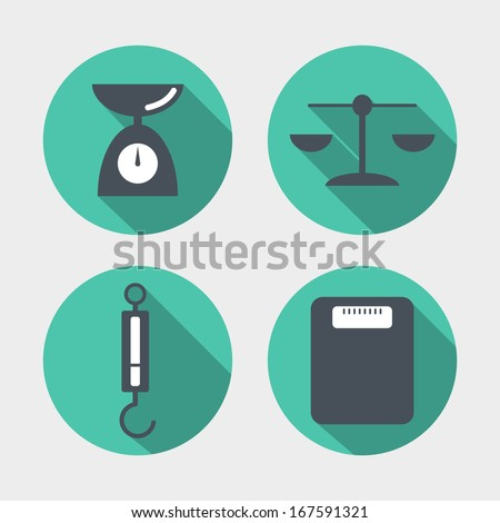 Balance icons - stock vector