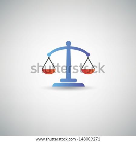 Balance symbol,vector - stock vector