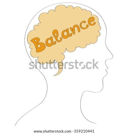Balance vector background - stock vector