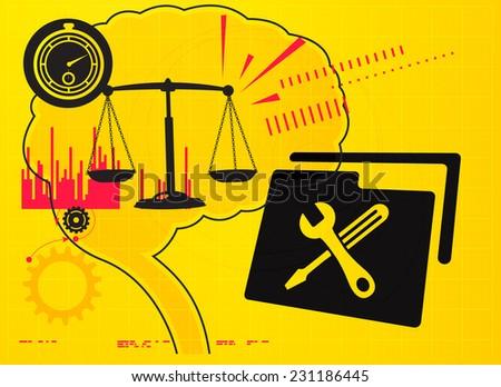 Balanced Decision - stock vector