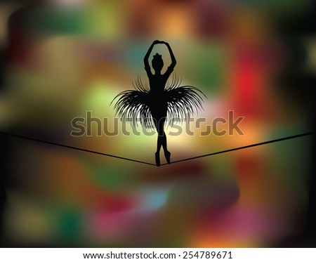 balancer dance in night lights  eps10 - stock vector