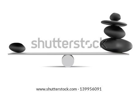 Balancing Stones,vector - stock vector