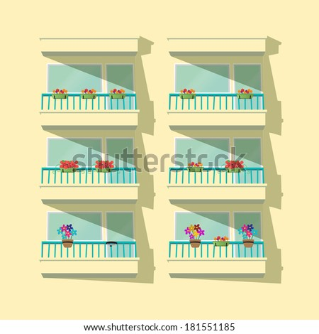 Balcony stock vectors images vector art shutterstock for Balcony clipart