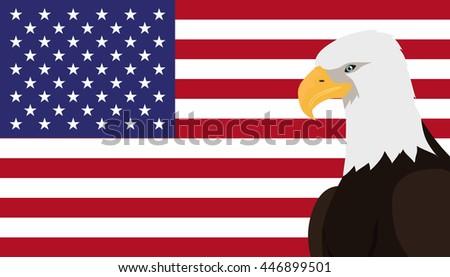 Bald eagle usa national bird symbol stock vector 446899501 bald eagle usa national bird symbol and flag patriotic posters elections vector illustrating sciox Choice Image
