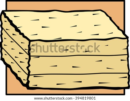 baled hay - stock vector