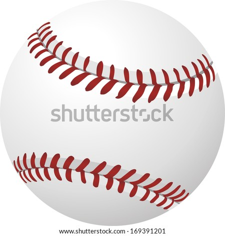 ball baseball vector - stock vector
